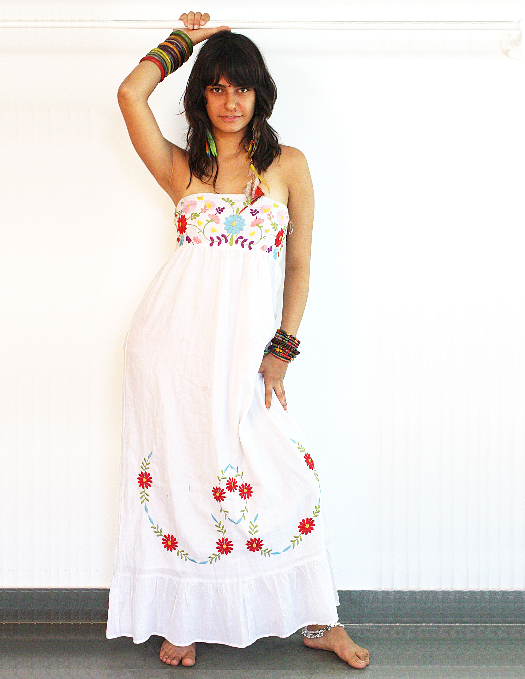 Ladies Dresses - Cotton Printed Dress and Cotton Hand Embroidered ...